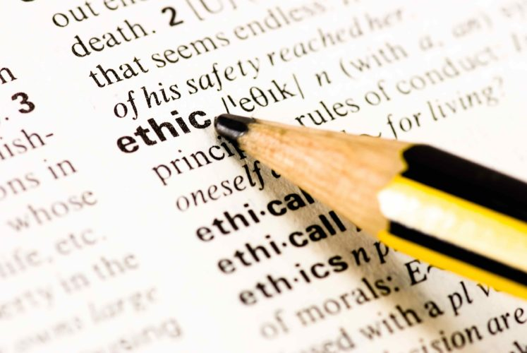 pencil pointing to the word ethic - banking royal commission